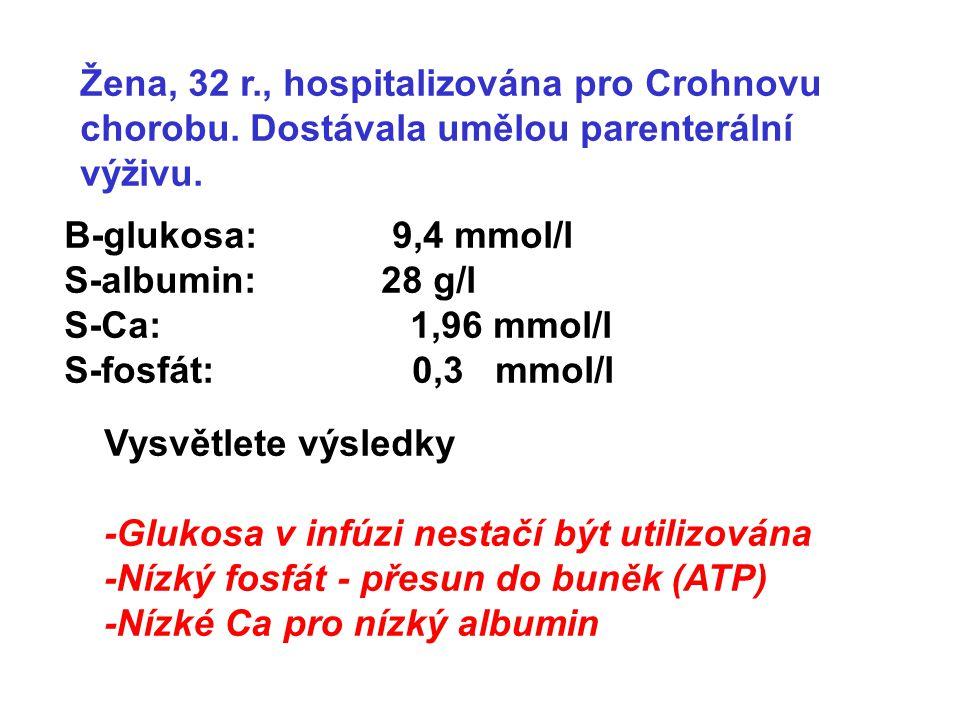 Žena, 32 r., hospitalizována pro Crohnovu