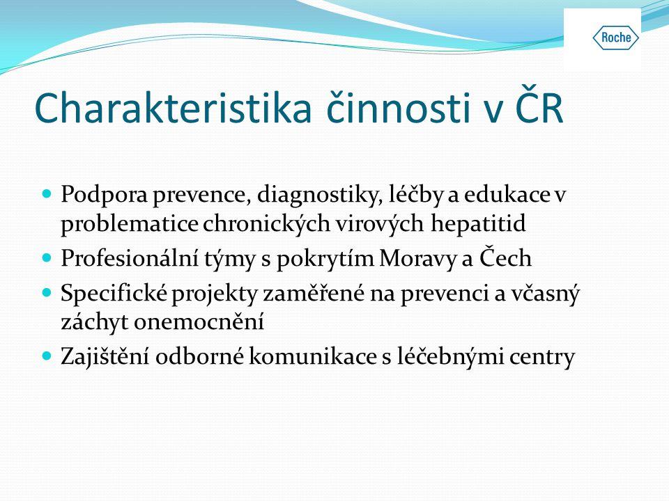 Charakteristika činnosti v ČR