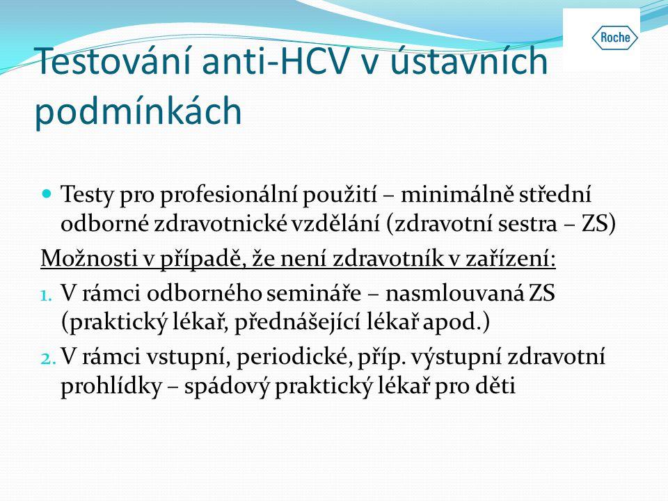 Testování anti-HCV v ústavních podmínkách