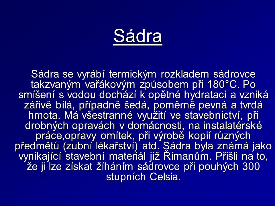 Sádra