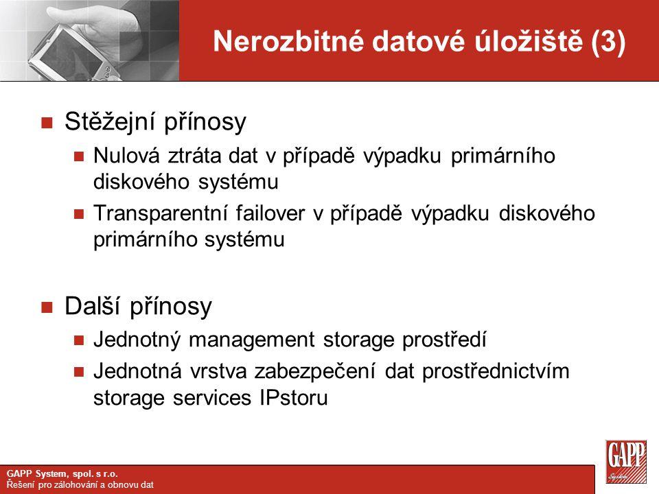 Nerozbitné datové úložiště (3)