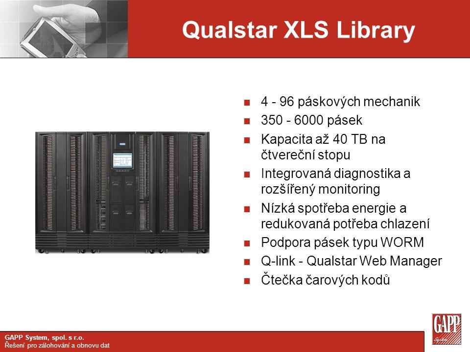Qualstar XLS Library 4 - 96 páskových mechanik 350 - 6000 pásek