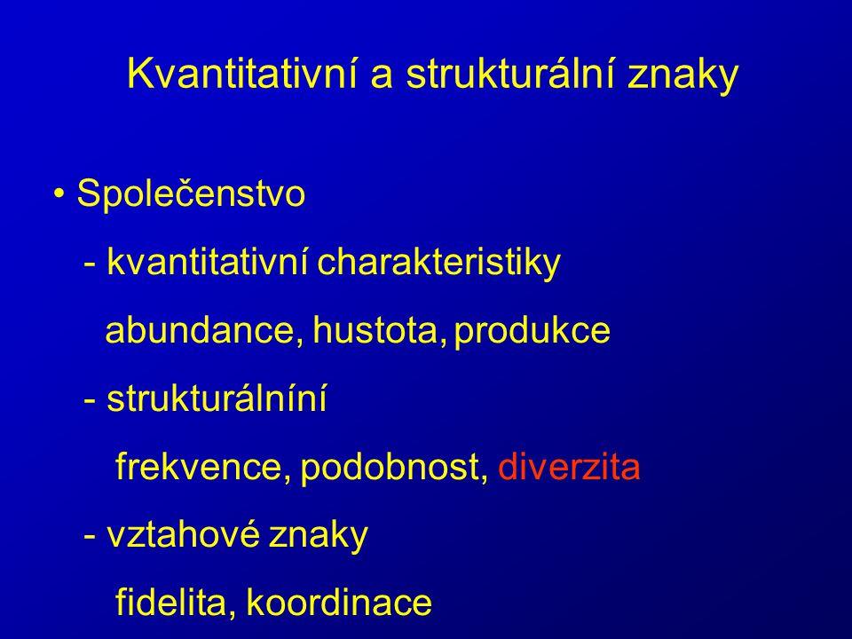 Kvantitativní a strukturální znaky