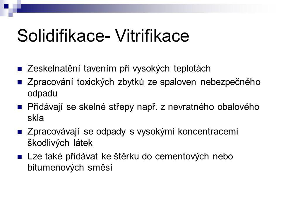 Solidifikace- Vitrifikace