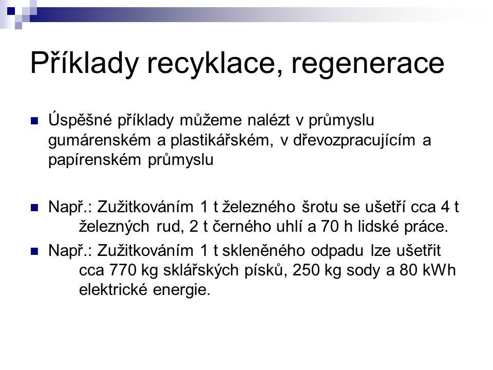 Příklady recyklace, regenerace