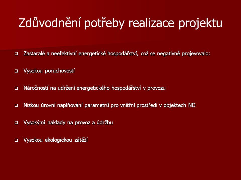 Zdůvodnění potřeby realizace projektu