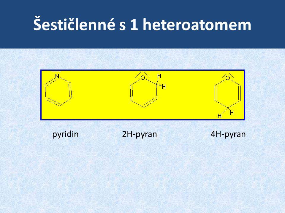 Šestičlenné s 1 heteroatomem