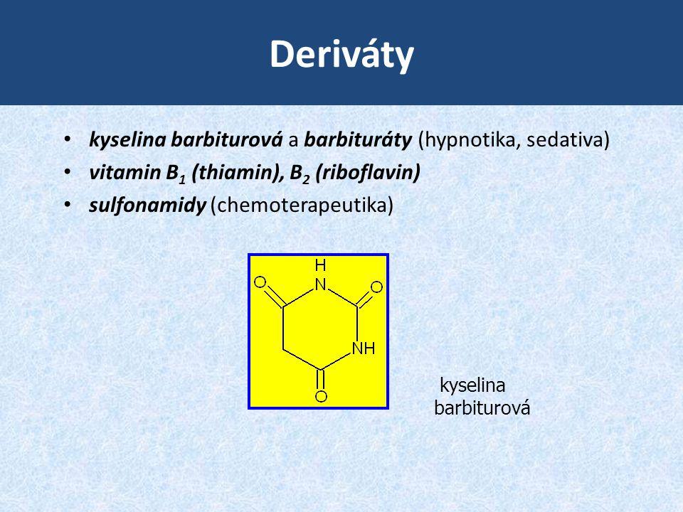 Deriváty kyselina barbiturová a barbituráty (hypnotika, sedativa)
