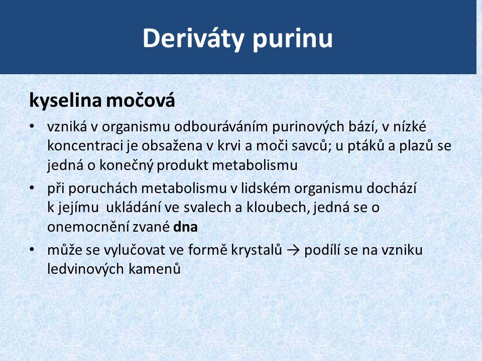 Deriváty purinu kyselina močová