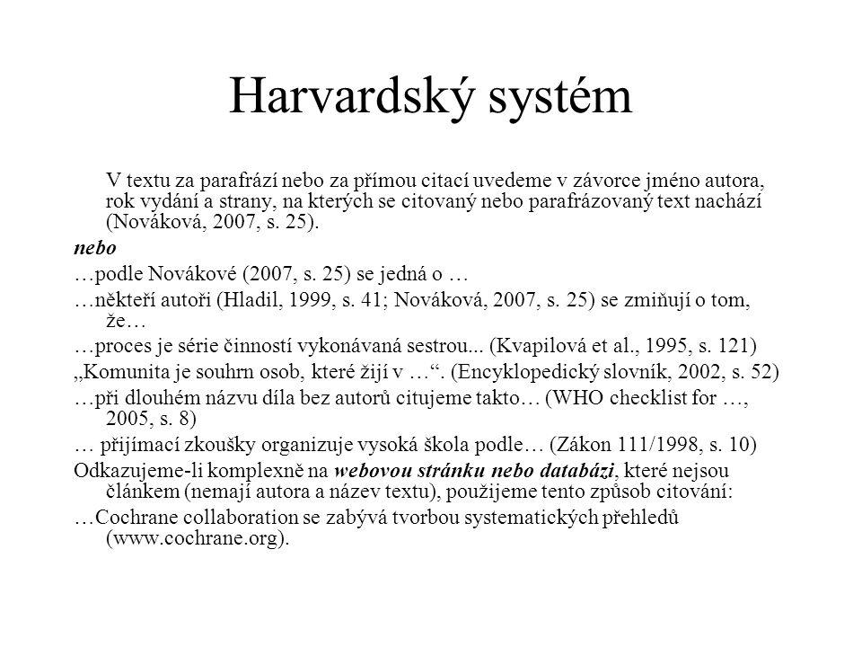 Harvardský systém