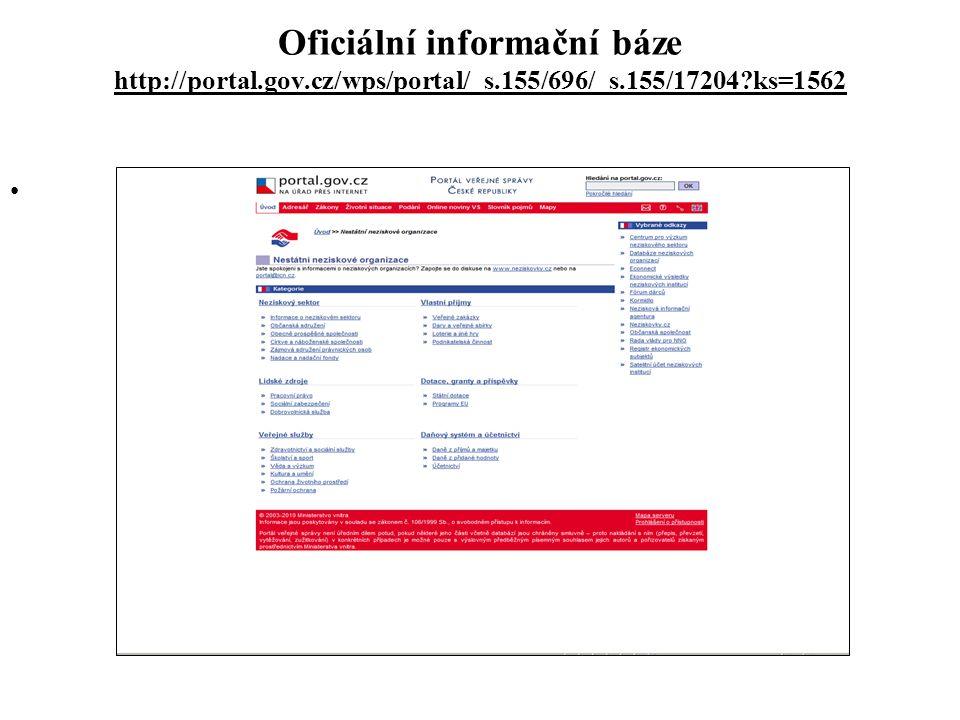 Oficiální informační báze http://portal. gov. cz/wps/portal/_s
