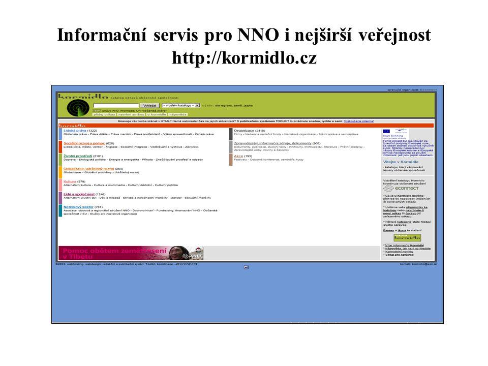 Informační servis pro NNO i nejširší veřejnost http://kormidlo.cz