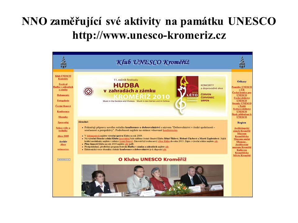 NNO zaměřující své aktivity na památku UNESCO http://www