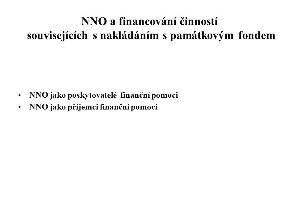 NNO a financování činností souvisejících s nakládáním s památkovým fondem