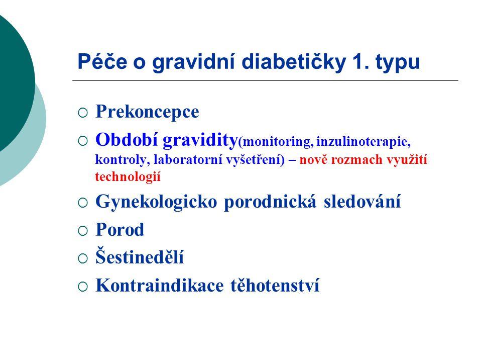 Péče o gravidní diabetičky 1. typu