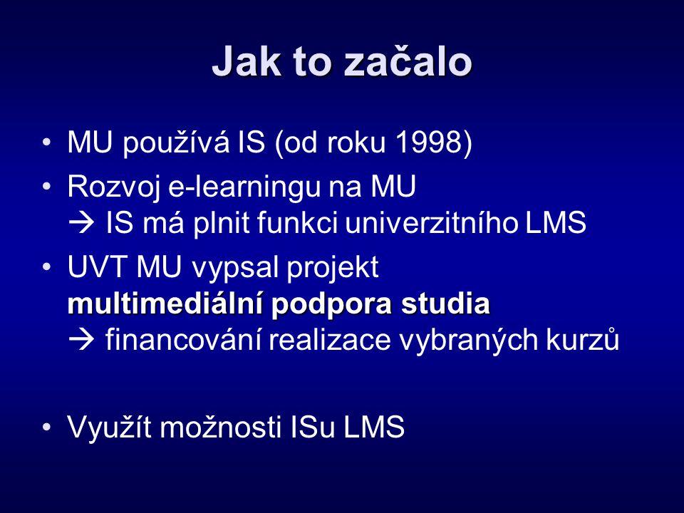 Jak to začalo MU používá IS (od roku 1998)