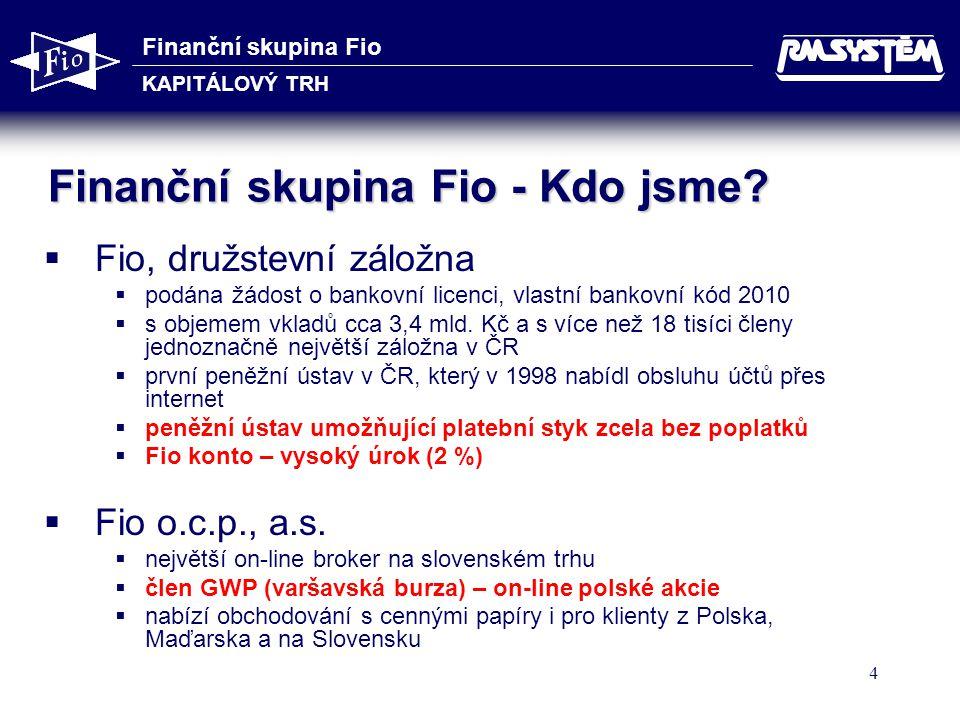 Finanční skupina Fio - Kdo jsme