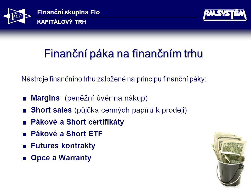 Finanční páka na finančním trhu