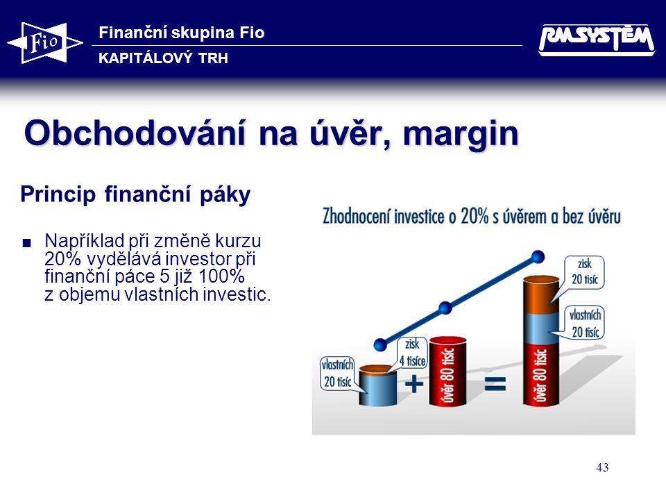 Obchodování na úvěr, margin