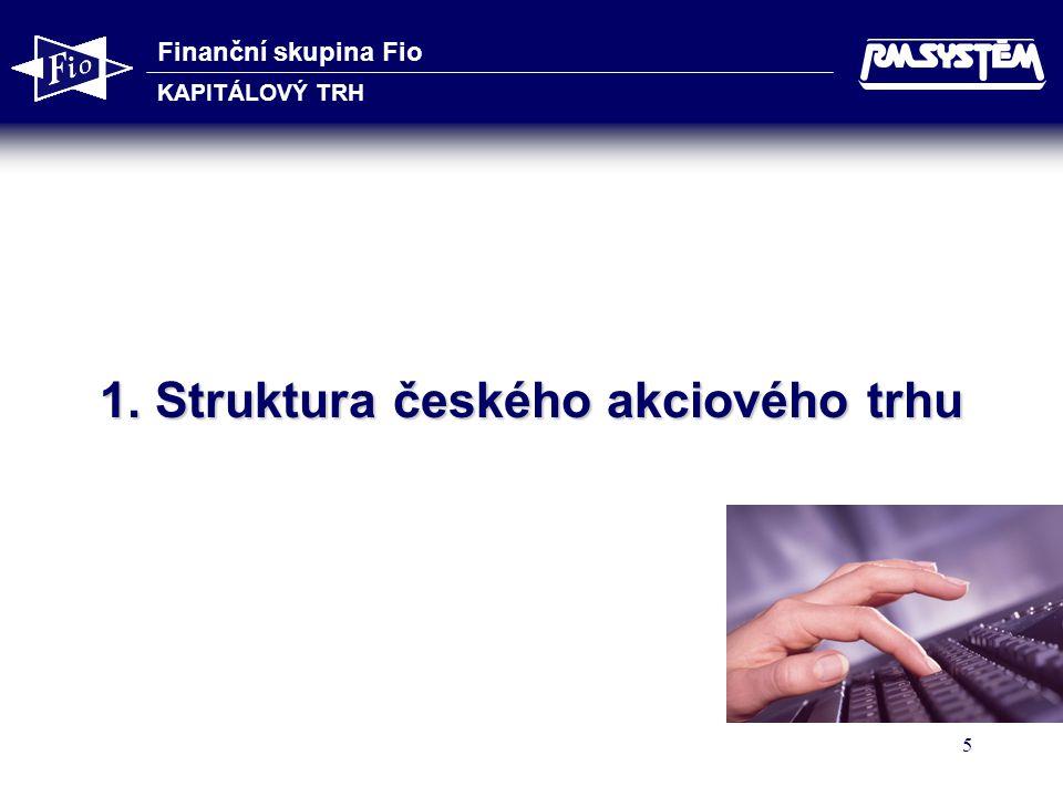 1. Struktura českého akciového trhu