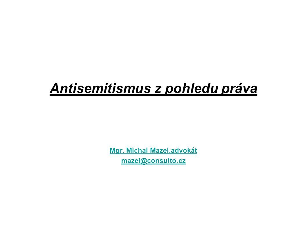 Antisemitismus z pohledu práva