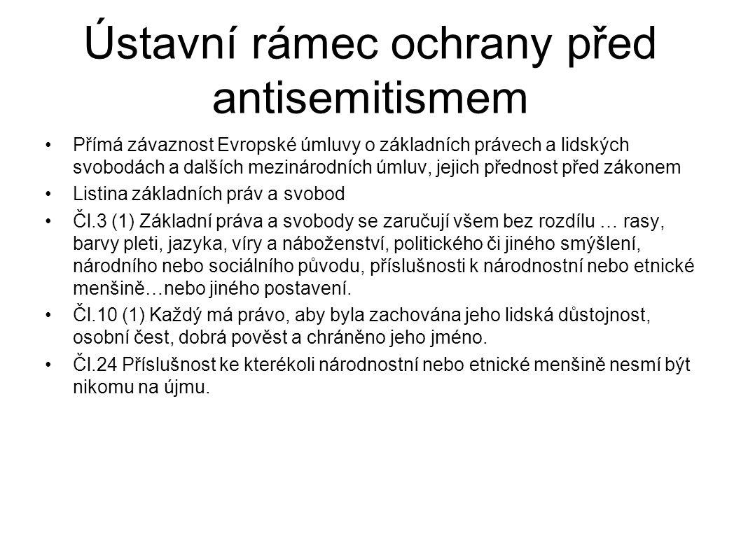 Ústavní rámec ochrany před antisemitismem