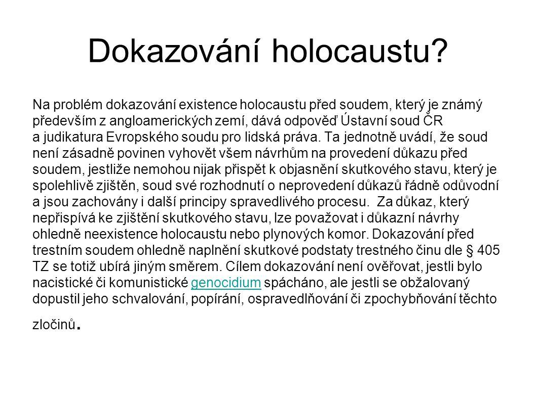Dokazování holocaustu