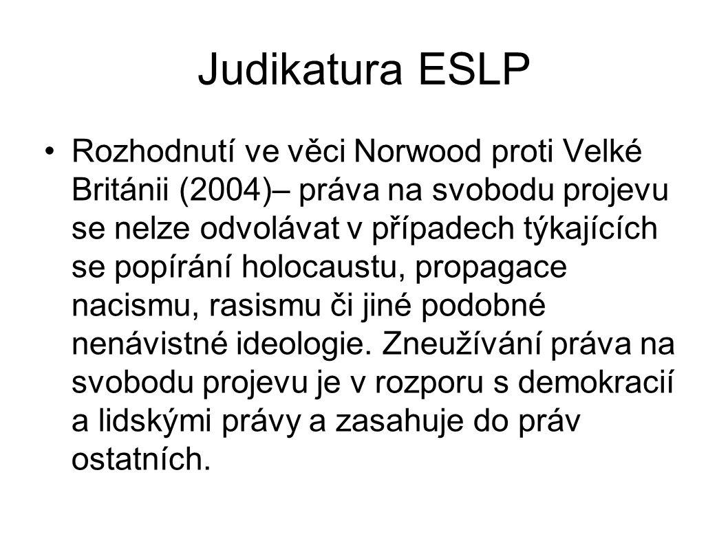 Judikatura ESLP