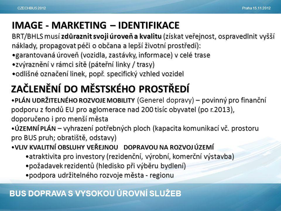 IMAGE - MARKETING – IDENTIFIKACE