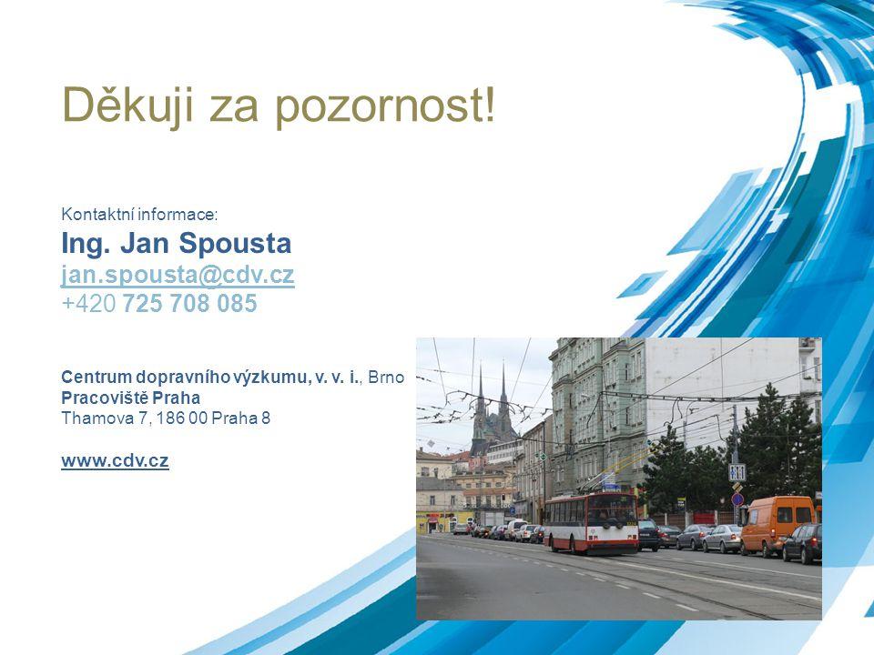 Děkuji za pozornost! Ing. Jan Spousta jan.spousta@cdv.cz