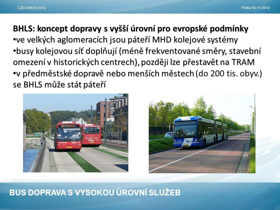BHLS: koncept dopravy s vyšší úrovní pro evropské podmínky