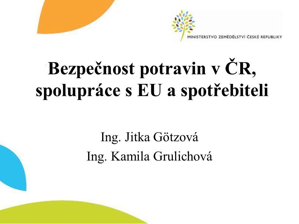 Bezpečnost potravin v ČR, spolupráce s EU a spotřebiteli