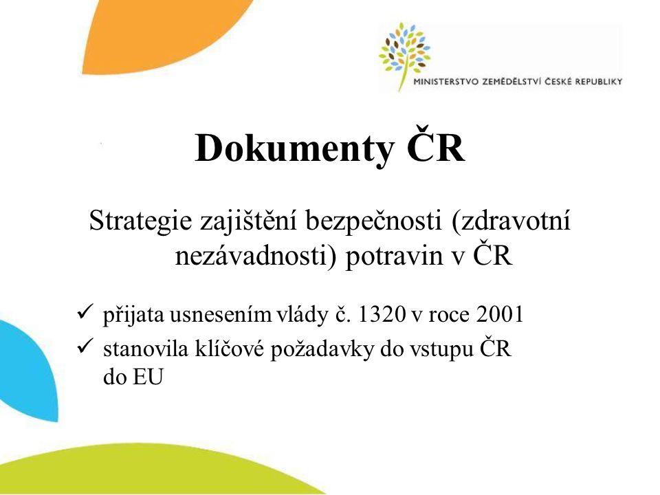 Strategie zajištění bezpečnosti (zdravotní nezávadnosti) potravin v ČR