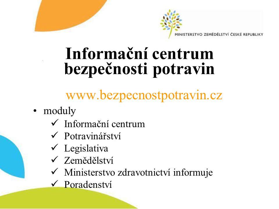 Informační centrum bezpečnosti potravin