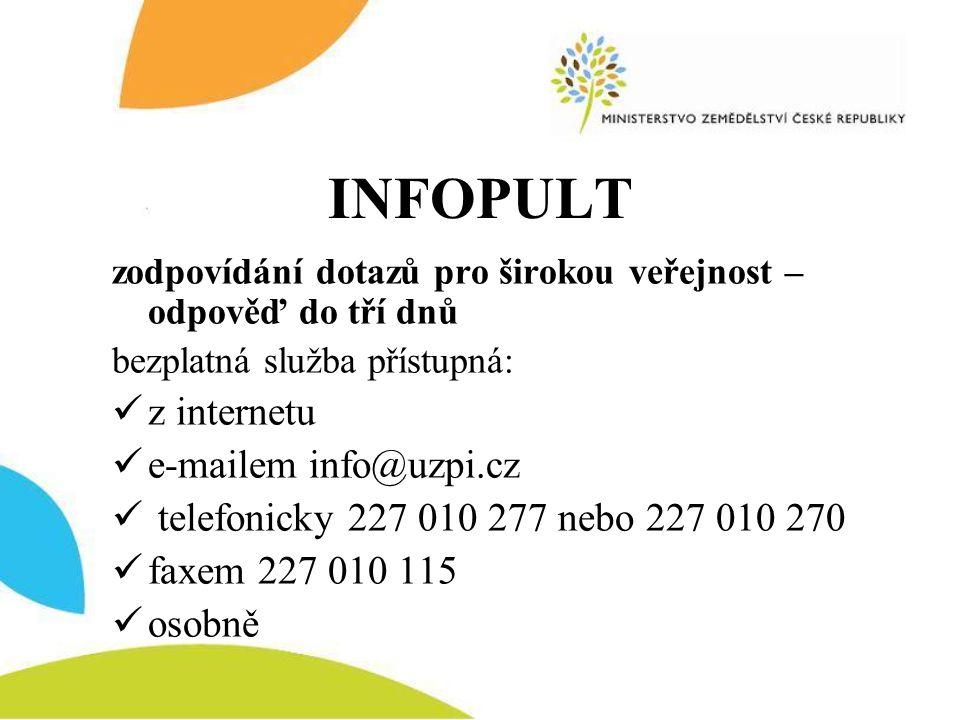 INFOPULT z internetu e-mailem info@uzpi.cz