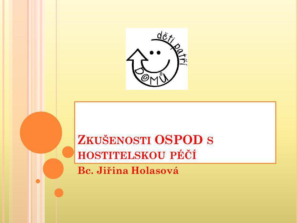 Zkušenosti OSPOD s hostitelskou péčí