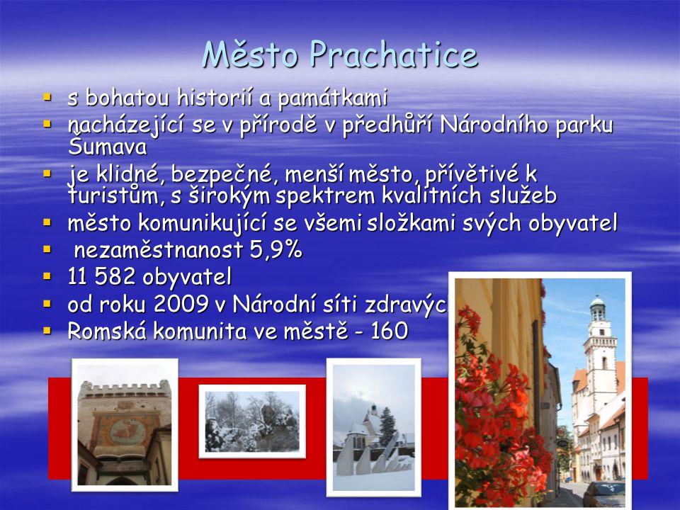 Město Prachatice s bohatou historií a památkami