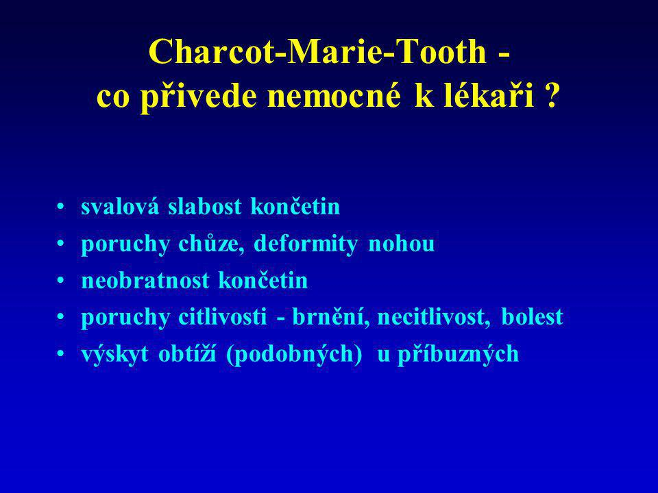 Charcot-Marie-Tooth - co přivede nemocné k lékaři