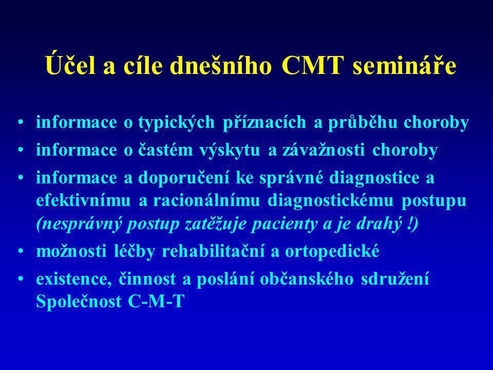 Účel a cíle dnešního CMT semináře