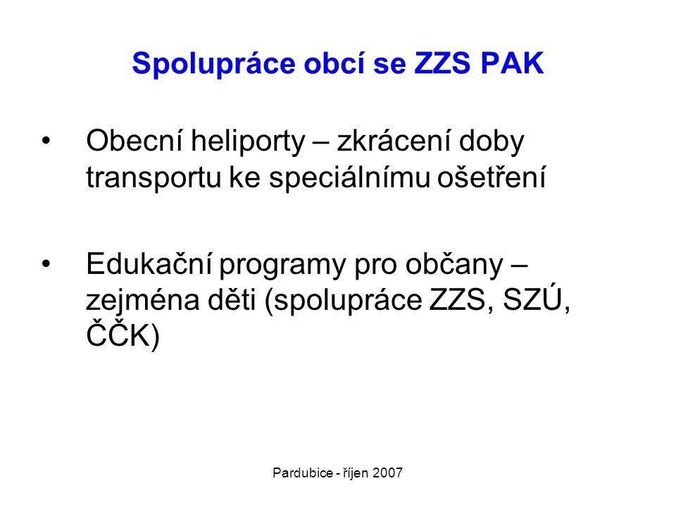 Spolupráce obcí se ZZS PAK