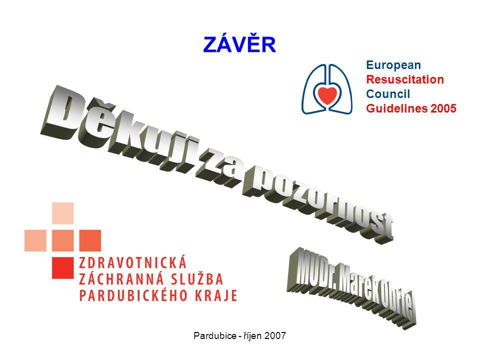 Děkuji za pozornost ZÁVĚR MUDr. Marek Obrtel European Resuscitation