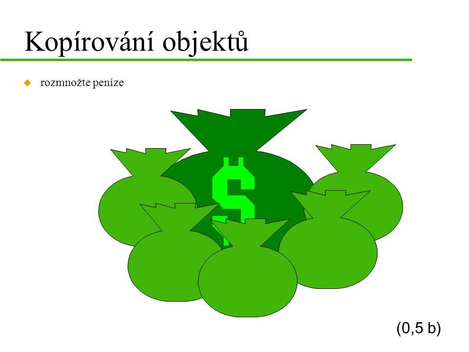 Kopírování objektů rozmnožte peníze (0,5 b)