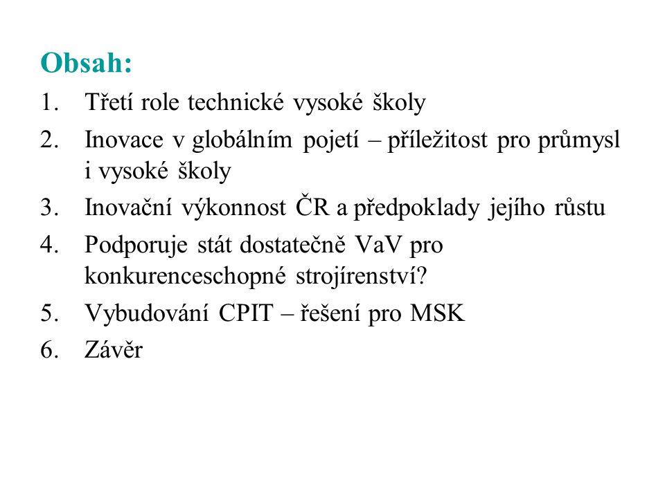 Obsah: Třetí role technické vysoké školy