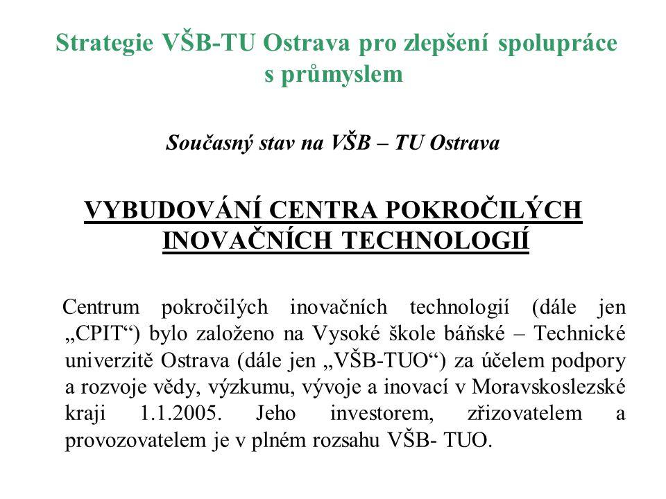 Strategie VŠB-TU Ostrava pro zlepšení spolupráce s průmyslem