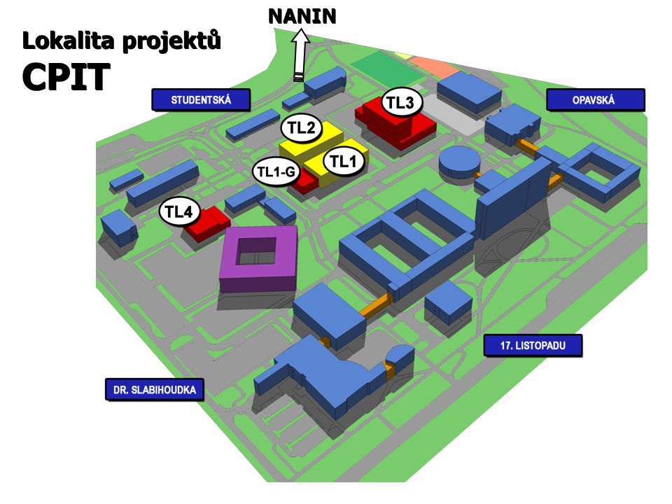 NANIN Lokalita projektů CPIT