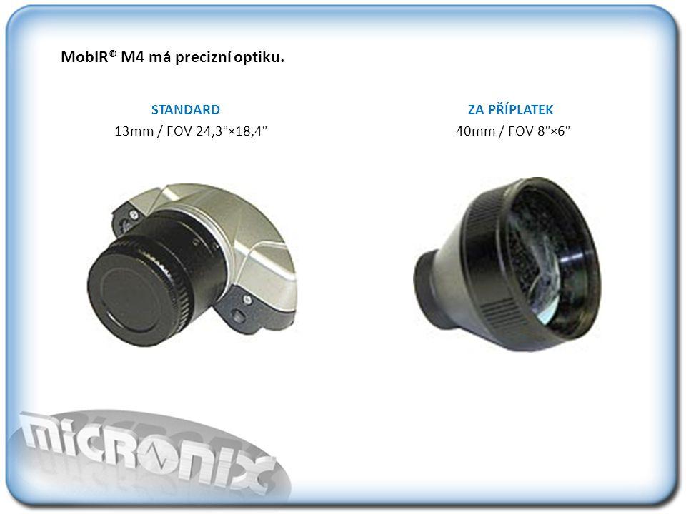 MobIR® M4 má precizní optiku.