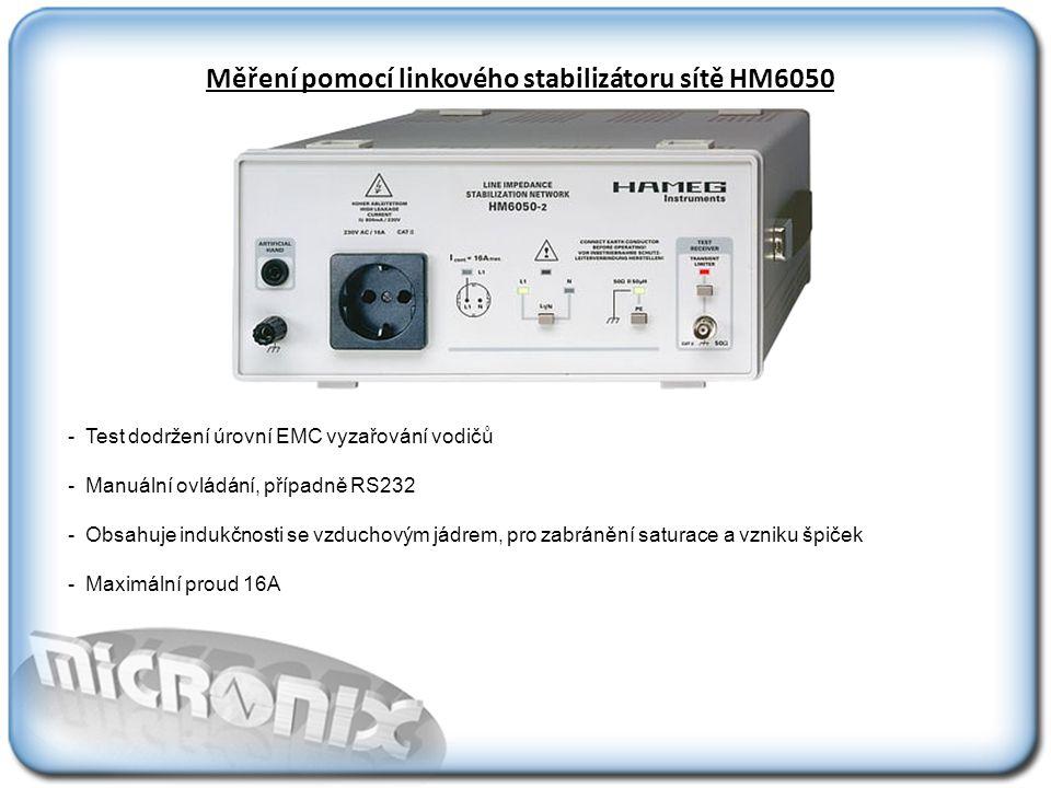 Měření pomocí linkového stabilizátoru sítě HM6050
