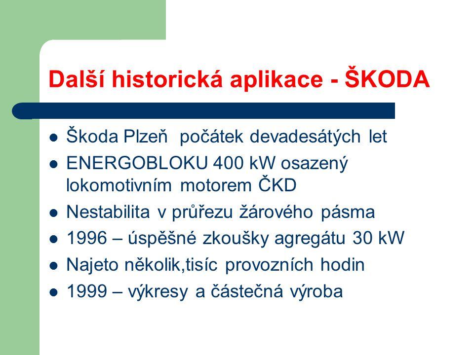 Další historická aplikace - ŠKODA