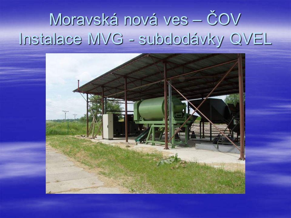 Moravská nová ves – ČOV Instalace MVG - subdodávky QVEL