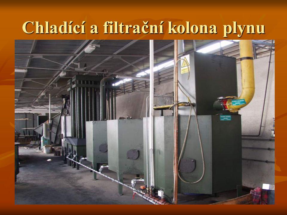 Chladící a filtrační kolona plynu